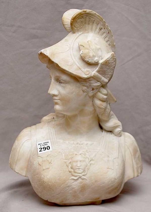 Italian School, Grand Tour Marble Bust of Athena, 19th Century