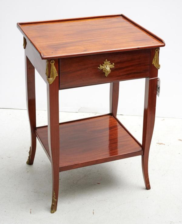 French Mahogany Side Table with Drawer and Ormolu Mounts, 19thC