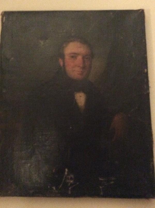 French School, Portrait of a Gentleman in a Landscape, c1840