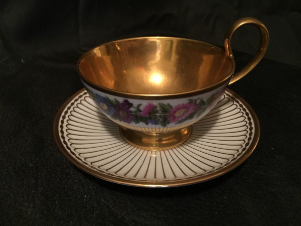 Sèvres, Hardpaste Assembled Tea Cup and Saucer, c1840