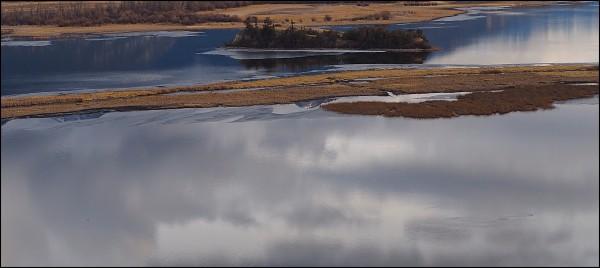 Wetlands in Blue #3, Wilmer, B.C. 2018 by James McElroy