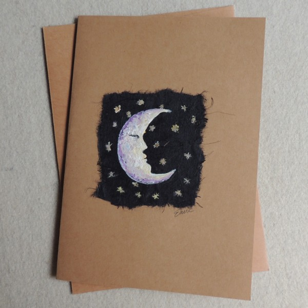Sleeping Moon - Card #2 by Elizabeth Ann McNally