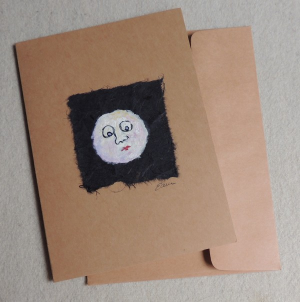 Moon Face Card by Elizabeth Ann McNally