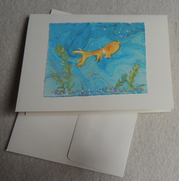 Gold Fish card by Elizabeth Ann McNally