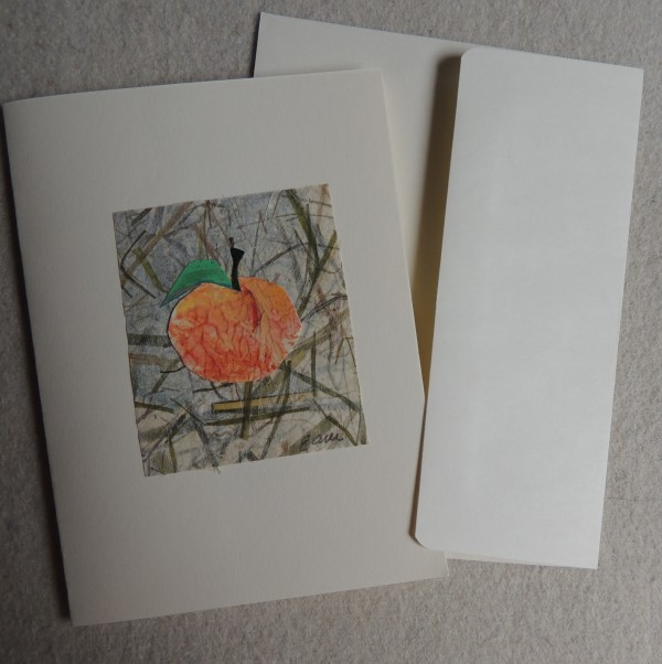 Peach card by Elizabeth Ann McNally