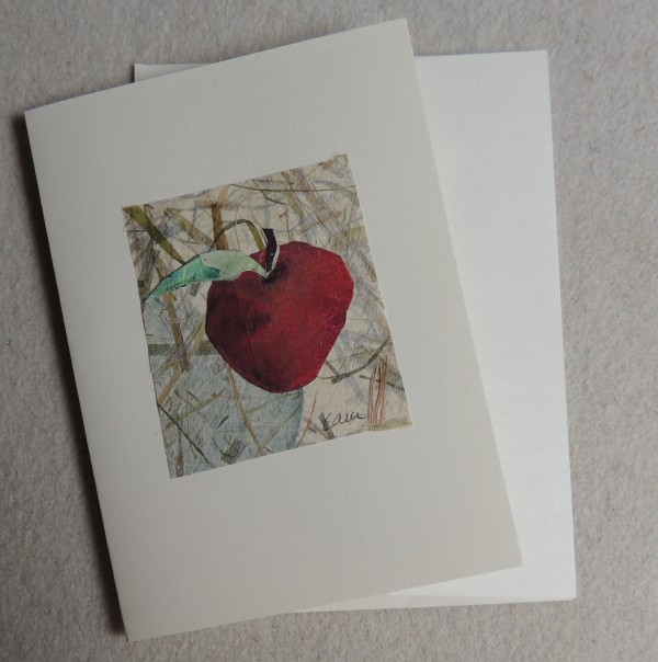 Red Apple card by Elizabeth Ann McNally