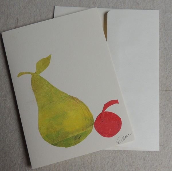 Pear & Cherry Card by Elizabeth Ann McNally