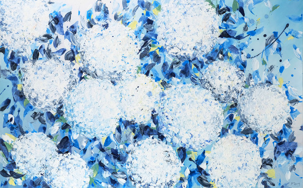 Breezy Hydrangeas by Dana Mooney