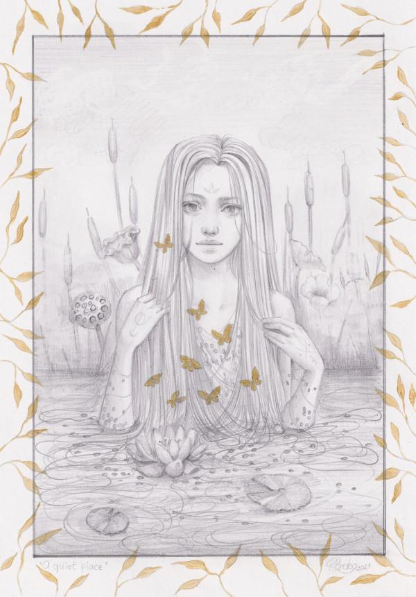 A quiet place (sketch) by Kseniia Boko