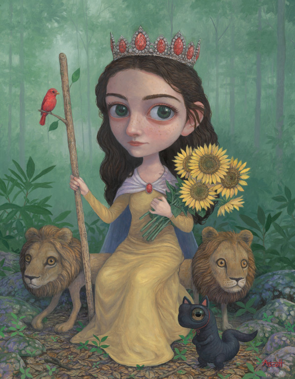 Queen of Wands by Thomas Ascott