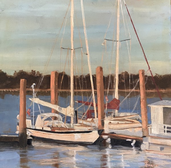 Docked for the Evening by Phyllis Sharpe