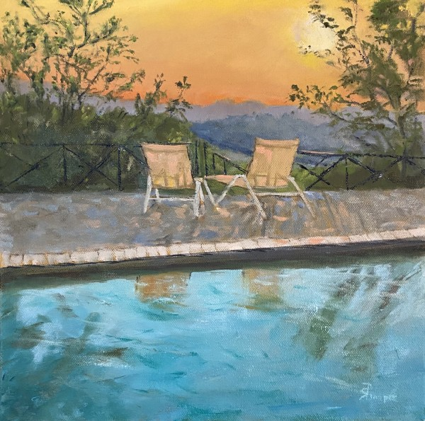 Pool Reflections by Phyllis Sharpe