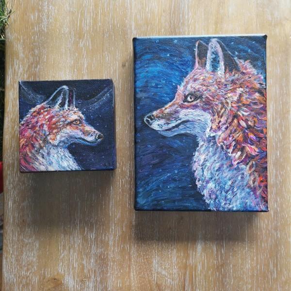 Fox (left) by Stephanie McGregor