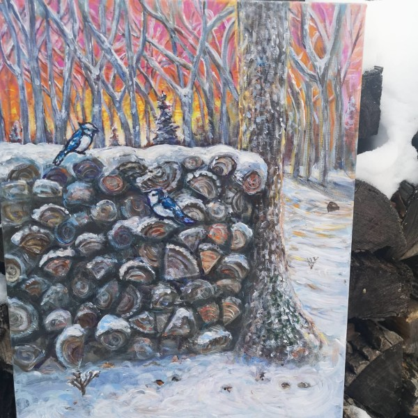 Meeting by the Wood Stack by Stephanie McGregor