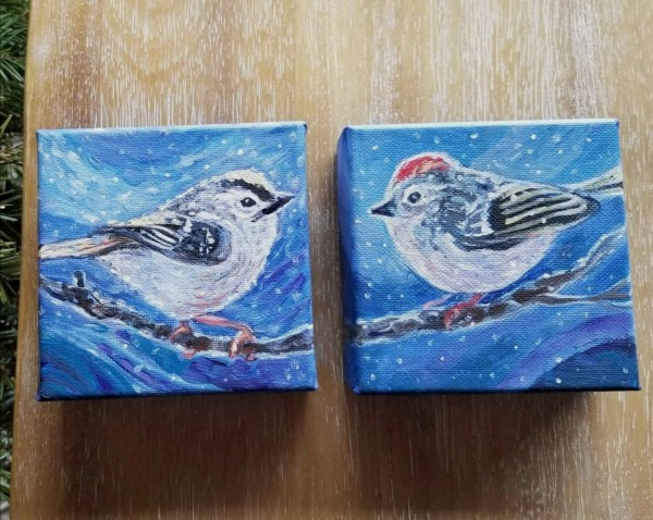Ruby Crowned Kinglets by Stephanie McGregor