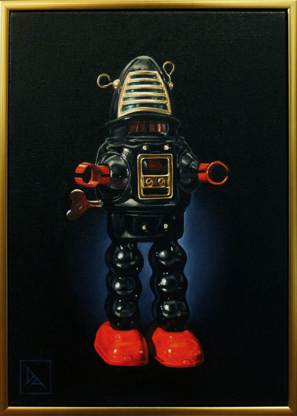 Black Robot by Daevid Anderson