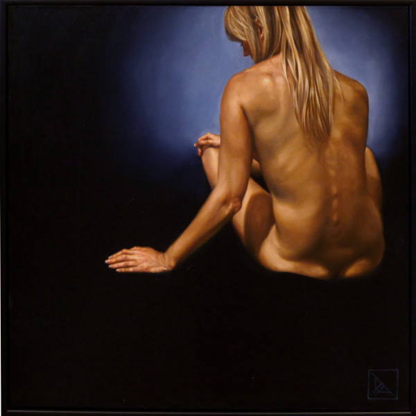 Nude Sitting #1 by Daevid Anderson