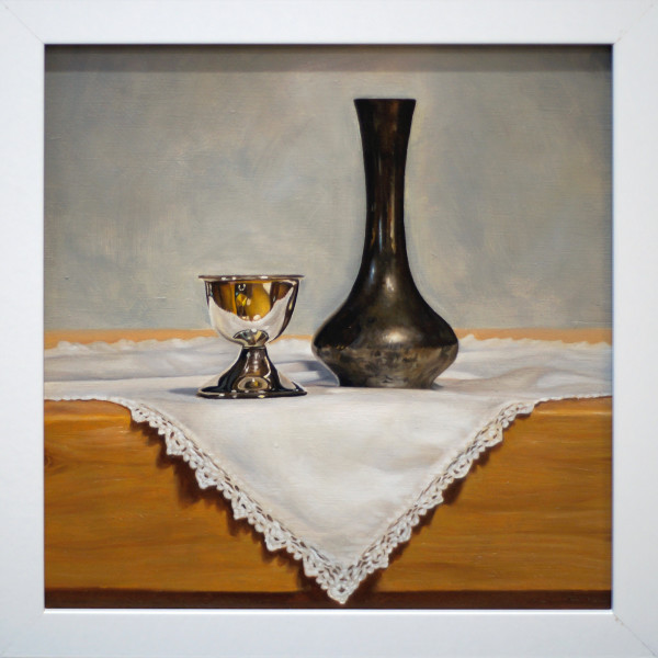 Vase and Egg Cup by Daevid Anderson