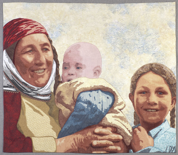 Turkeman Mother with Children by Lea McComas