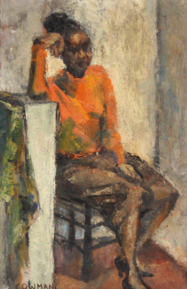 Girl in Red Sweater by Laura Cowman