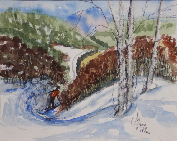 Skiing by Mary Miller