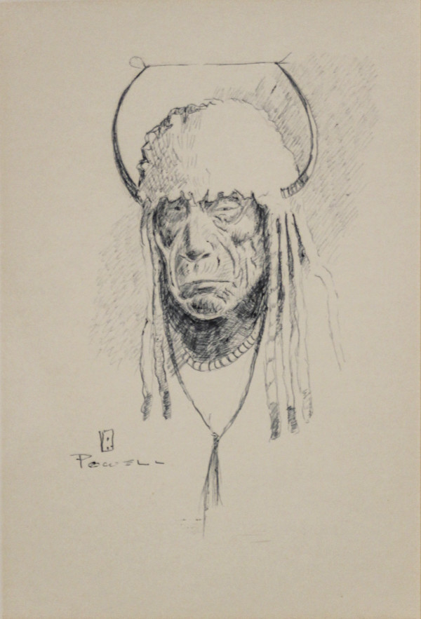 Flathead Native Man by unknown Powell