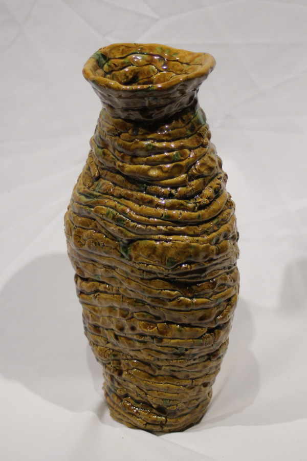 Brown Coil Pot by Jean Spreen