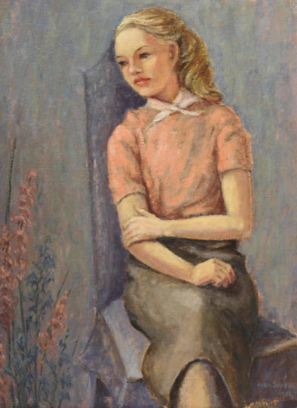 Girl in Pink Sweater by Jean Spreen