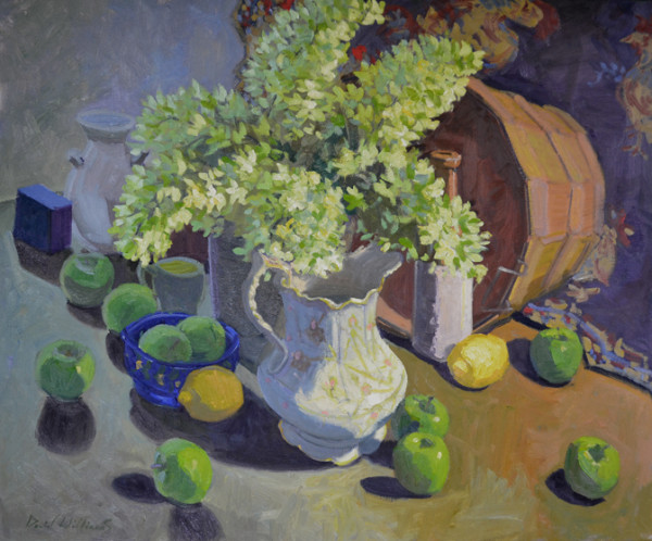 Apples and Hydrangea by David Williams