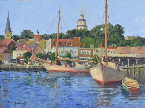 Annapolis With Skipjacks by David Williams