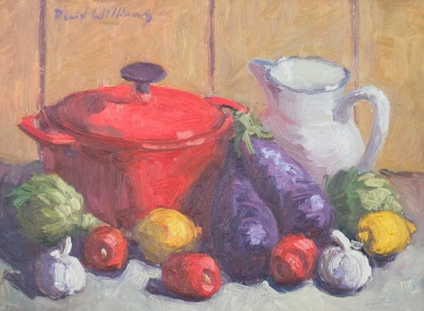 Red Pot Eggplant by David Williams