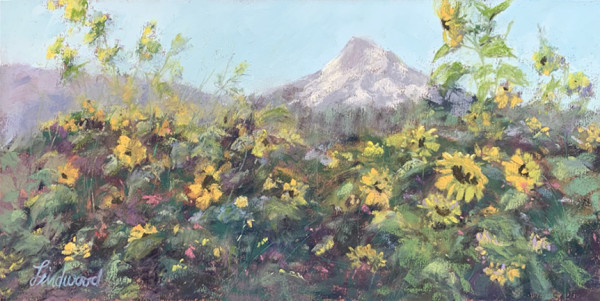 Morning Sunflowers by Gretha Lindwood
