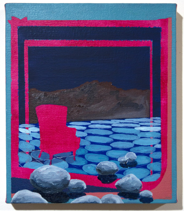 Blue Landscape with Chair by Mathew Tucker