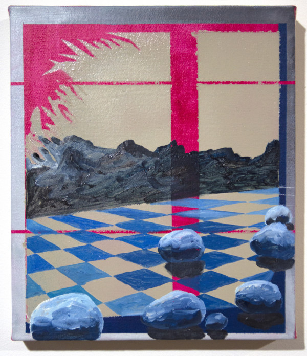 Blue Rock Landscape by Mathew Tucker