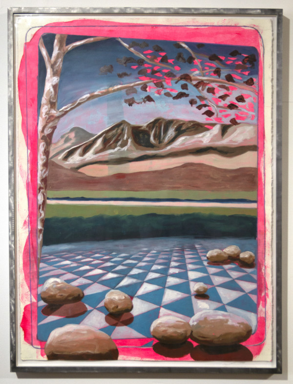 Blue Tiles on Paper by Mathew Tucker