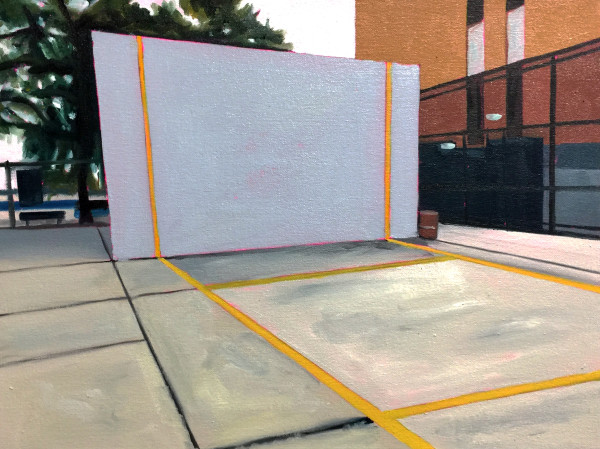 Handball Court and Trees by Mathew Tucker