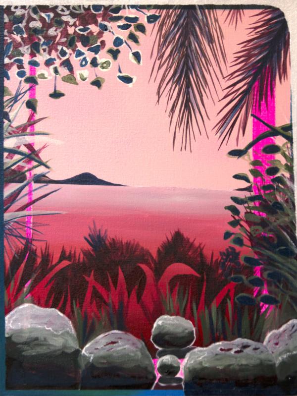 Hot Pink Landscape by Mathew Tucker