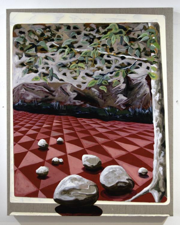 Red Linen Landscape by Mathew Tucker