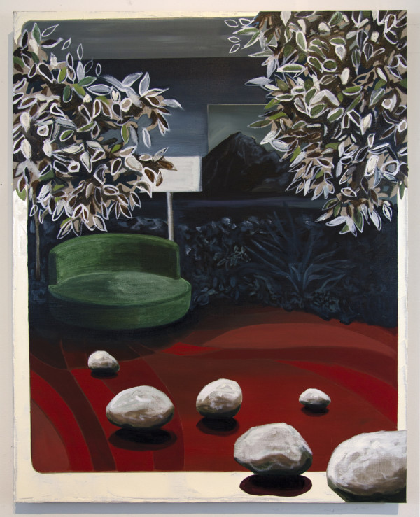Linen Love Seat by Mathew Tucker