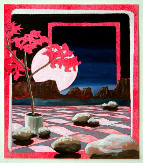 Moon over Tiles by Mathew Tucker