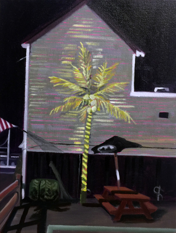 Neon Palm by Mathew Tucker