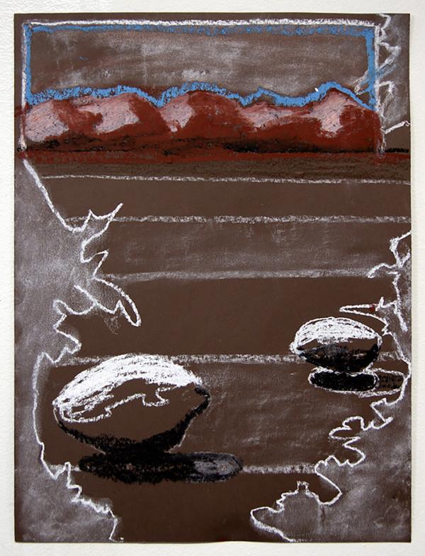 Paper, rocks, landscape, leaves. by Mathew Tucker