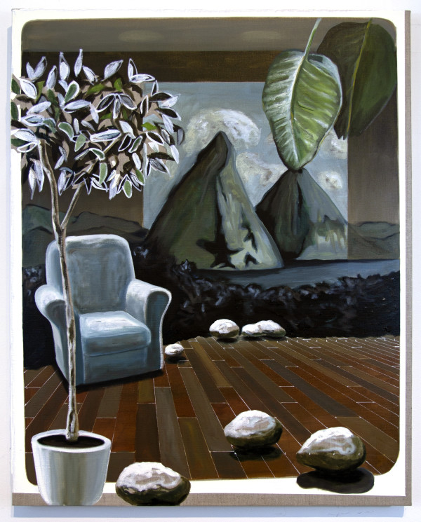 Pitons on Linen by Mathew Tucker