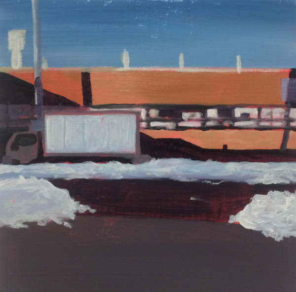 Truck in snow by Mathew Tucker