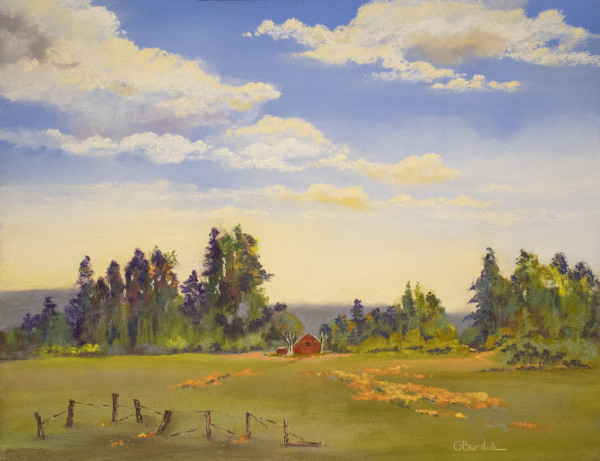 Behind the Red Barn by Ginny Burdick
