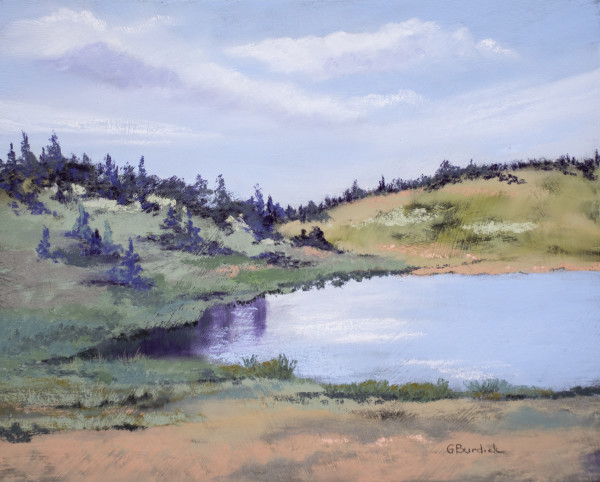Beside the Mountain Lake by Ginny Burdick