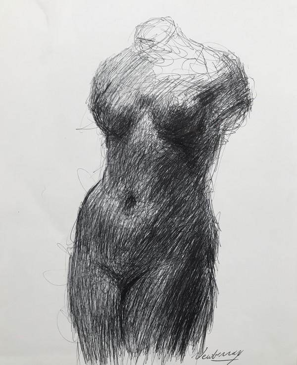 Ink Study of Maillol by Michael Newberry