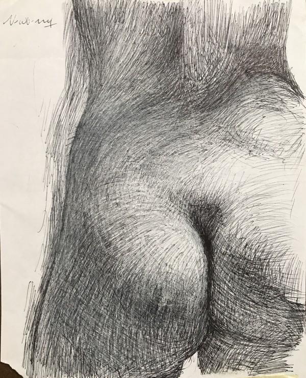 Eve Study Left Butt Cheek by Michael Newberry