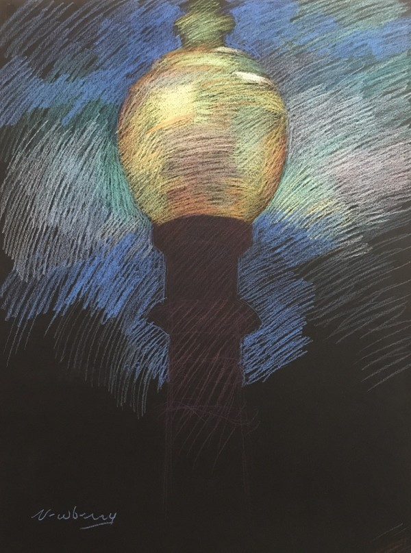 Santa Monica Lamp Post by Michael Newberry