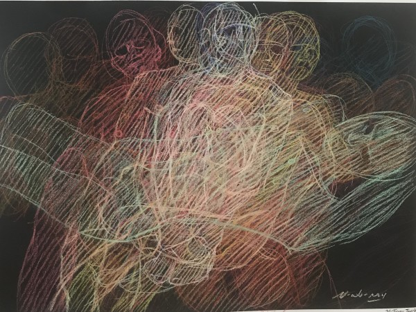 "Echoes, Newberry, 2020, pastel on dark paper, 22x30"" by Michael Newberry"